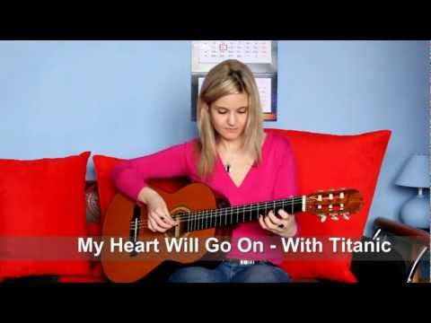 Jak Zagrać Melodię Z Titanica - [ WITH TABS ] HOW TO PLAY My Heart Will Go On By Instruktorka Gitary