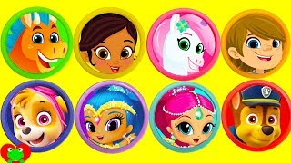 Nella the Princess Knight, Shimmer and Shine, Paw Patrol Play Doh Surprises