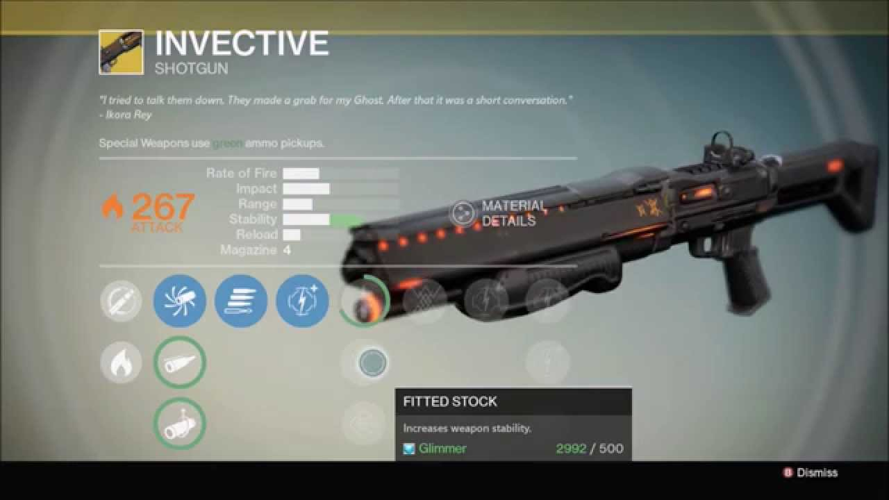 Weapon shotgun invective review how to get exotic weapon bounty