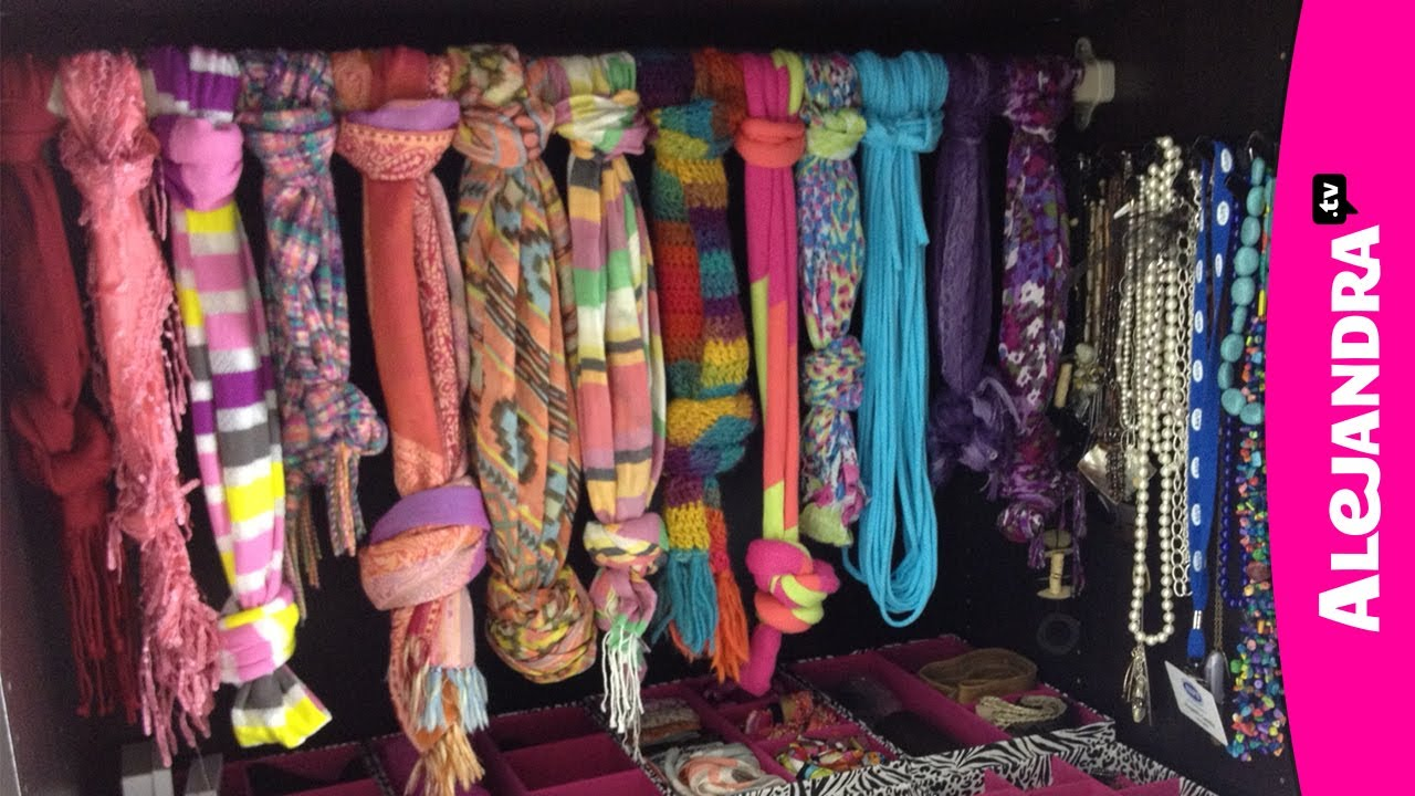 How To Organize Jewelry Purses Hats Amp Scarves In The Closet Youtube