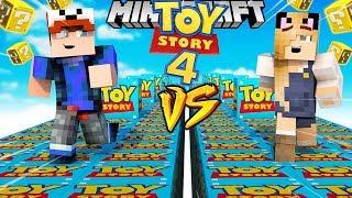 SZALONY WYŚCIG! - TOY STORY 4 LUCKY BLOCKI MINECRAFT! (Lucky Block Race) | Vito vs Bella