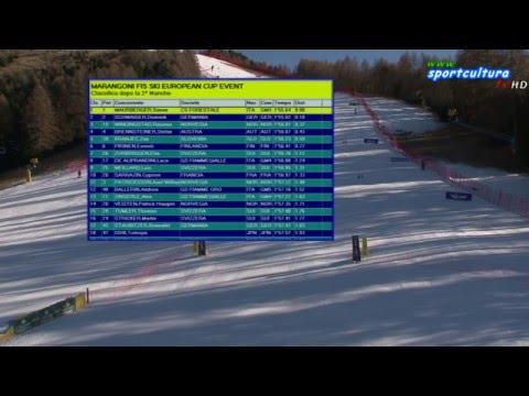 Marangoni FIS SKI European Cup slalom gigante maschile 2° manche #sport #live #sci
