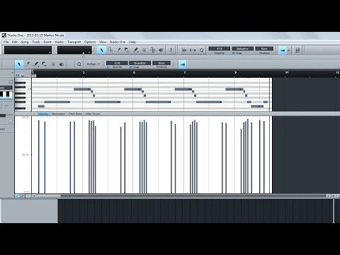 Audio to Midi - Studio One 2 Pro - Melodyne Essential