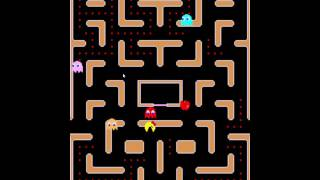 Ms.Pac-Man | Upside down level.