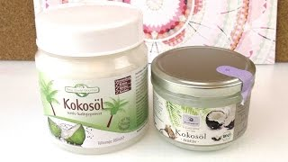 "Kokosöl Test / Kokosöl ""New World Gourmet"" - ""Bio Planete"" im Vergleich / DIY Reviews deutsch"