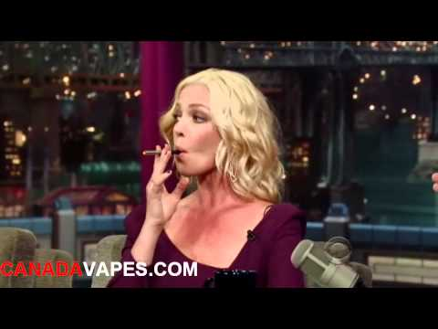 Katherine Heigl & David Letterman vape electronic cigarettes