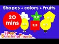 Kids Colors Shapes Song With Fruits Kids Learning Education 20 Minutes mp3