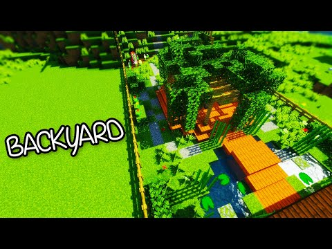 ☯ Minecraft - Gardening 101 - Backyard Garden - Tutorial #1