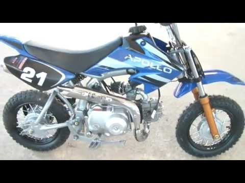 Apollo Dirt Bikes 70cc On Youtube COM NICE Kids Youth cc