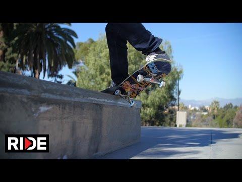 Sewa Kroetkov Skateboarding in Slow Motion - Hollenbeck Skate Plaza
