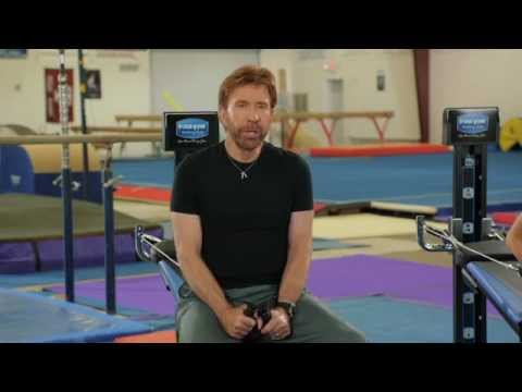 Chuck Norris Working Out With His Son On The Total Gym
