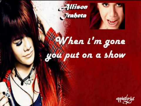 Friday I'll Be Over You - Allison Iraheta With Lyrics On Screen video