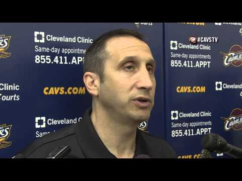 Coach David Blatt Interview after Practice - Cleveland Cavaliers