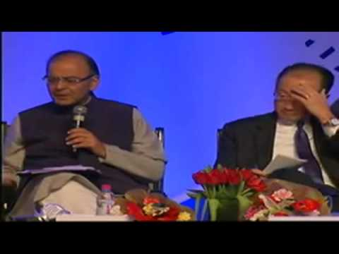Finance Minister Arun Jaitley interacts with corporate world in Gandhinagar