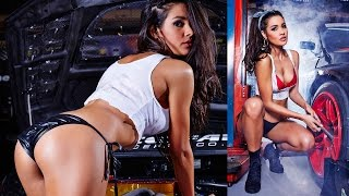 Tahan Lew puts you in pole position with her racy shoot at ZOOTUBE! | ZOO Brunettes