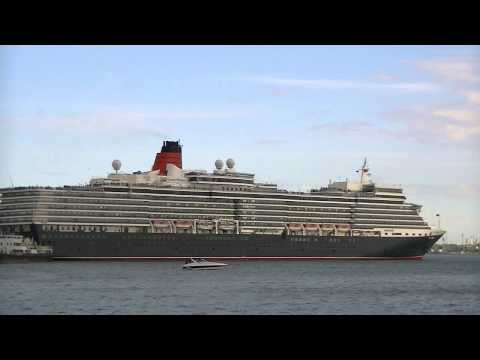 Queen Victoria, Queen Elizabeth & Grand Mistral departures Southampton 15/05/13.