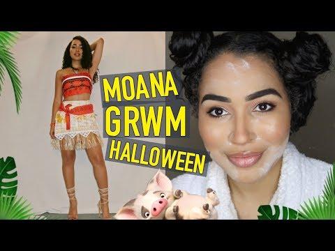 Last Minute Moana Halloween Costume & Makeup Tutorial | GRWM | Lana Summer
