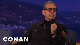 Jeff Goldblum's Wooed His Wife With Music & Contortion  - CONAN on TBS
