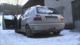 Cold start VW Golf 3 Tdi 90hp
