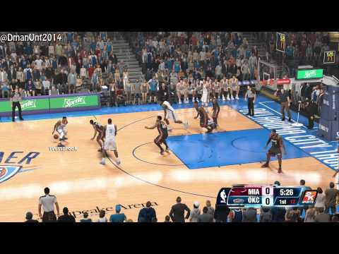 Playstation 4 NBA 2K14 HD Game Play - Miami Heat vs. OKC Thunder! PS4