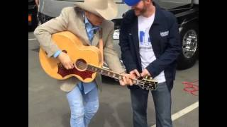 """Dwight Sings """"Fast as You"""" with Dale Earnhardt Jr."""