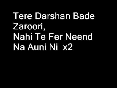 Tere Darshan Bade Jaroori Full Song (lyrics) video