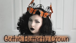 Making a Gothic Butterfly Crown