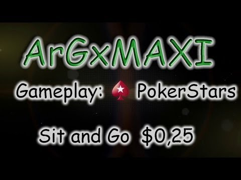 Poker con ArGxMAXI: Sit and Go: $0,25 - 45 Participantes