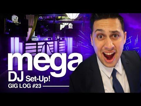 DJ GIG LOG: Crazy PARTY  | EPIC DJ SET-UP w/ Dragon Frontboard Facade, TVs, & Lights