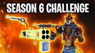DIE SEASON 6 CHALLENGE! 🦇 | Fortnite: Battle Royale
