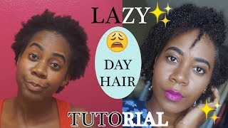 Lazy Day Hairstyle Tutorial   Plus UPDATE ( BlueMagic, Bella Curls Defining Cream & Shea Moisture )