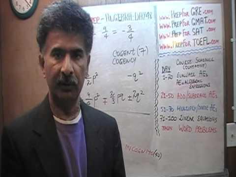 Algebra Help Day 48 - Math Tutor - GRE, GMAT, SAT Prep - Online via Skype KeshwaniPrep.com
