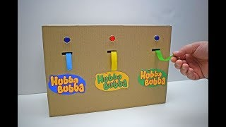 Hubba Bubba Bubble Tape automatic dispenser from cardboard How to make Hubba Bubba Tape dispenser
