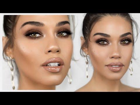 Shay Mitchell Inspired Bronzy Smokey Eye Makeup   Eman