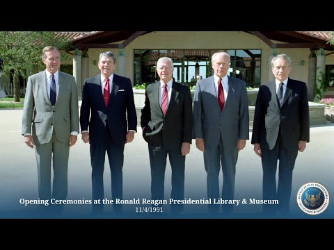 Opening Ceremonies at the Ronald Reagan Presidential Library - 11/4/91