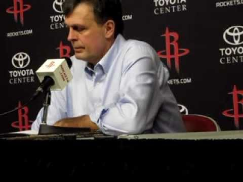 Houston Rockets Kevin McHale after Rockets rout Sixers 125-103