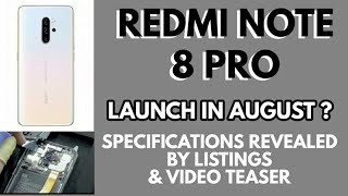 REDMI NOTE 8 PRO - SPECS REVEALED AND LAUNCH