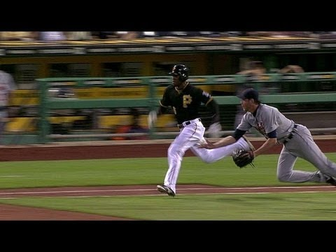Doug Fister makes a gorgeous diving play on Starling Marte's bunt