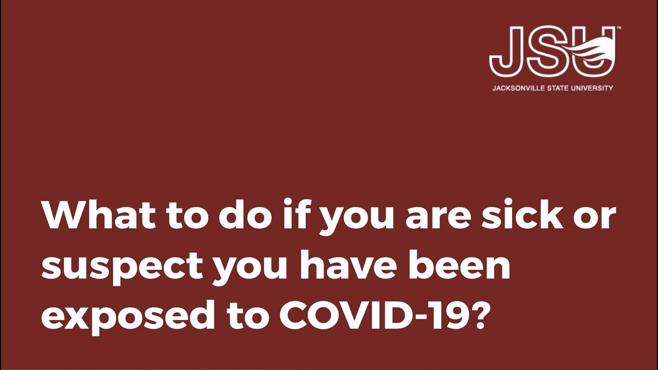 如果你生病或怀疑你已经接触到Covid-19,该怎么办?