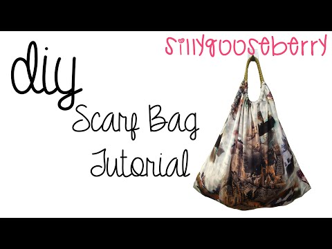 DIY Scarf Bag Tutorial - YouTube