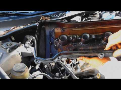 2003 Toyota Camry valve cover gasket and spark plug replacement