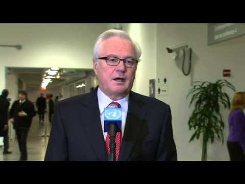 Churkin about troops on Eastern border: we just want to help Ukrainian people.
