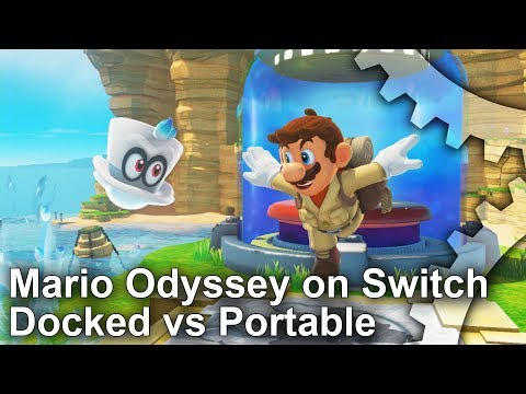 Super Mario Odyssey Preview - Switch Docked vs Portable Comparison!