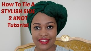 How to Tie a Stylish Side 2 Knot Turban Head Wrap Tutorial