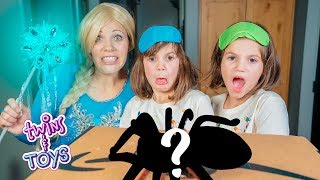 What's in the Box Challenge with Elsa and Twins Kate & Lilly