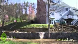 Подпорные стенки на дачном участке