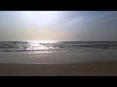 Atlantic Ocean Meets the Coast of Saint-Louis, Senegal West Africa