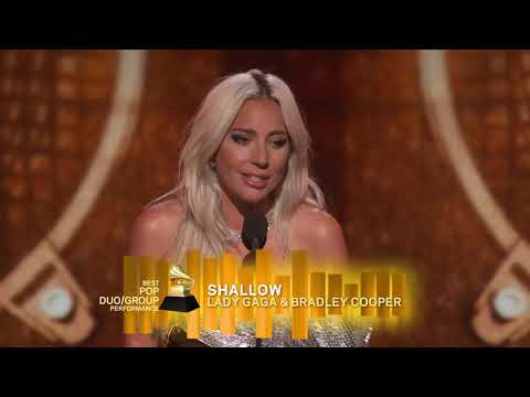 Lady Gaga Wins Best Pop Duo Or Group Performance | 2019 GRAMMYs Acceptance Speech