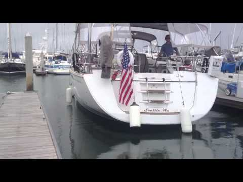 Docking a 57' Sailing Yacht single handed By: Ian Van Tuyl at IVT Yacht Sales in California