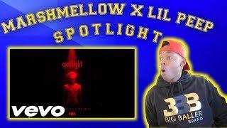 REACTING TO MARSHMELLOW X LIL PEEP - SPOTLIGHT [OFFICIAL AUDIO]